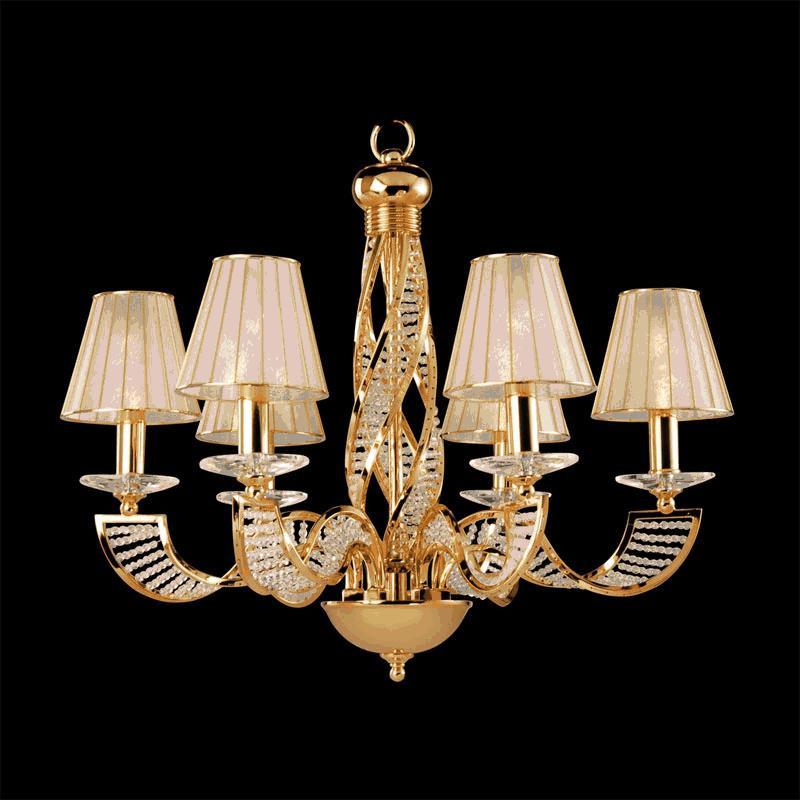 Lightstar 702082 (MD200001-8) Люстра подвесная ALVEARE 8х40W E14 24K ЗОЛОТО, шт lightstar 708052 md 300018 5 люстра подвесная elegante 5х60w e14 24k золото шт