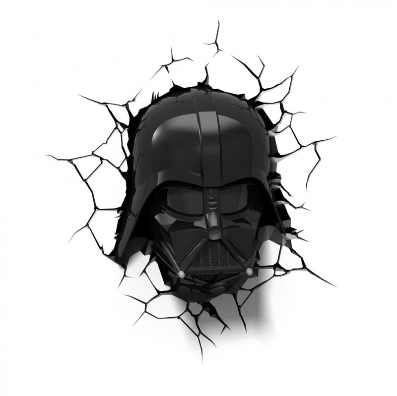 3DLIGHT Светильник ночник детский StarWars (Звёздные Войны)- Маска Darth Vader (Дарт Вейдер) starwars тарелка детская звёздные войны дарт вейдер диаметр 19 5 см