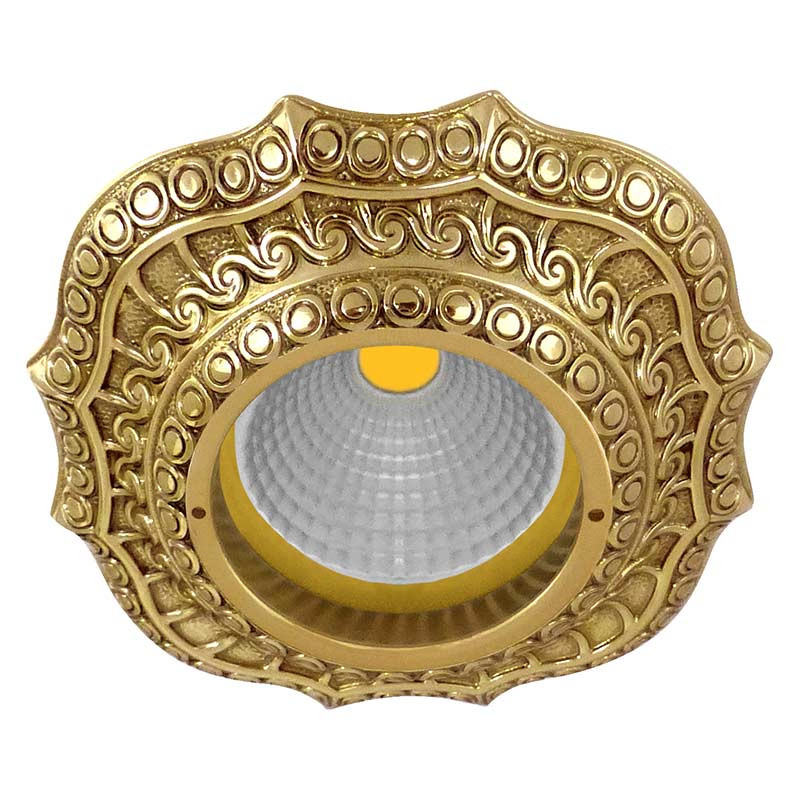 Fede FD1008ROB Скругленный точечный светильник из латуни, блестящее золото светильник точечный накладной коллекция vitoria surfase fd1012sob латунь блестящее золото fede феде