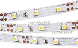 Arlight Лента 5 метров RT 2-5000 12V White6000 (3528, 300 LED, LUX) arlight лента rt 2 5000 24v s cool 5mm 2x 3528 600led lux