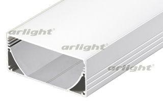 Arlight Профиль с экраном 2 метра ALU-POWER-W80N-2000 ANOD+FROST arlight профиль с экраном 2 метра alu stair d 2000 anod frost