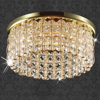 Novotech 369442 NT09 187 золото/прозрачный Встраиваемый  светильник GU5.3 50W 12V PEARL ROUND novotech встраиваемый светильник pearl round