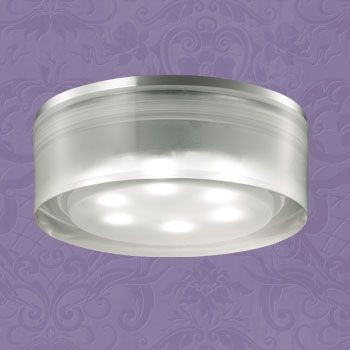 Novotech 357052 NT11 347 хром/белый Встраиваемый НП светильник IP20 6LED 6*1W 220V EASE