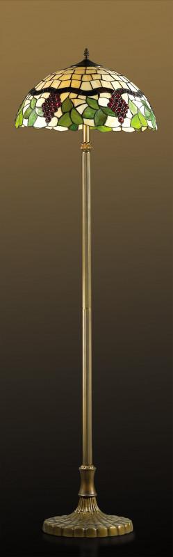 """Odeon Light 2267/2F ODL12 703 коричневый/""""тиффани"""" Торшер E27 2*60W 220V TRAUBE подвес odeon light 2267 2 odl12 645 e27 2 60w 220v traube коричневый тиффани"""