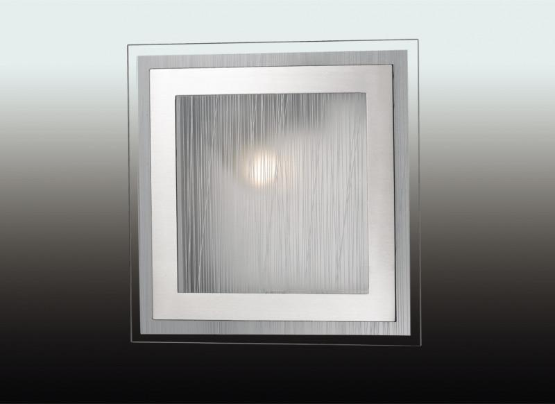 Odeon Light 2737/1W ODL15 811 никель/стекло Н/п светильник E27 60W 220V ULEN meziere wp101b sbc billet elec w p