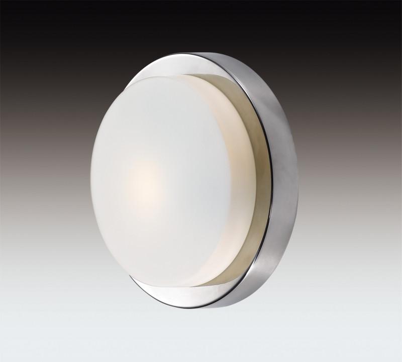 Odeon Light 2746/1C ODL15 867 хром/стекло Н/п светильник IP44 E14 40W 220V HOLGER odeon light 2745 2c odl15 867 белый стекло н п светильник ip44 e14 2 40w 220v holger