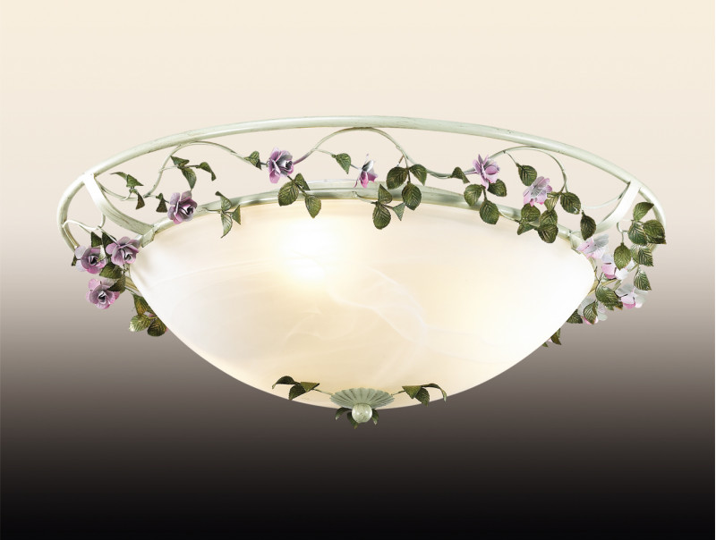 все цены на Odeon Light 2796/3C ODL15 599 беж/декор.цветы/стекло Н/п светильник E27 3*60W 220V TENDER