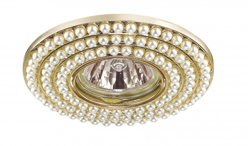 Novotech 370142 NT15 185 золото Встраиваемый светильник IP20 GU5.3 50W 12V PEARL встраиваемый светильник novotech pearl round 369441