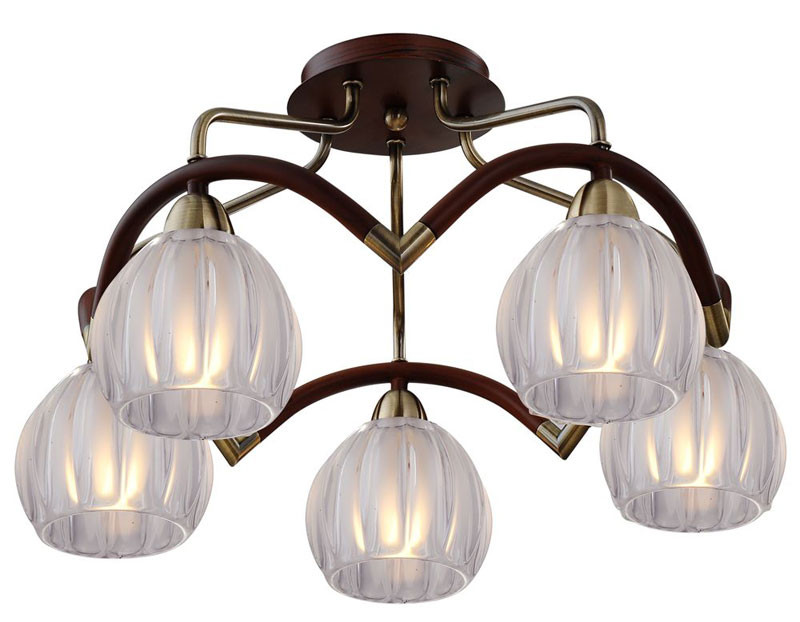 где купить N-Light 407-05-53ABWBB antique brass + walnut по лучшей цене
