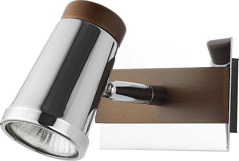 цена на N-Light 6205A/1GU10 chrome + brown wood