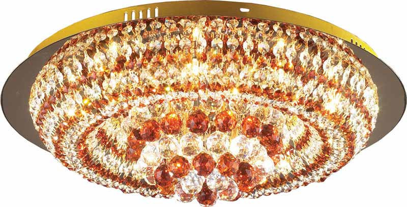 N-Light 06 2483 0333 16 gold, amber and white crystal люстра накладная 06 2484 0333 24 gold amber and white crystal n light