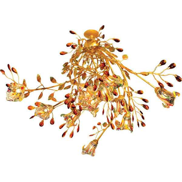 N-Light 90284/12 gold G9 40W , amber crystal люстра накладная 06 2484 0333 24 gold amber and white crystal n light