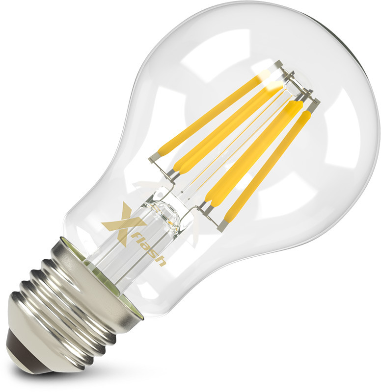 X-Flash Светодиодная лампа X-flash XF-E27-FL-A60-6W-2700K-230V (арт.47659) светодиодная лампа no name 59 smd e27 230v 6 5w