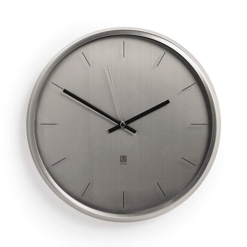Umbra Часы настенные meta никель umbra сушилка для посуда sinkin 35х26х9 см красный никель dyofdzt