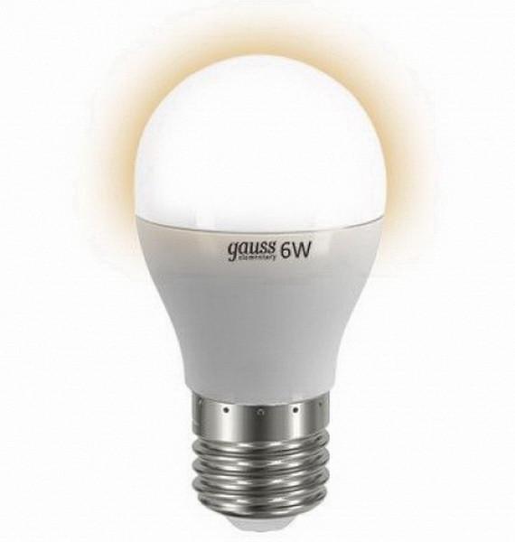 Gauss Лампа 6W E27 2700K Gauss Elementary светодиодная шар лампа светодиодная e27 6w 3300k шар прозрачный 4690389100987