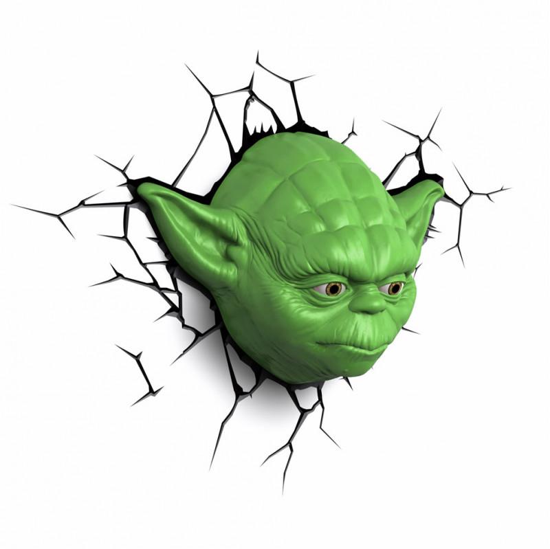 3DLIGHT Светильник ночник детский StarWars (Звёздные Войны)-Yoda (Йода) игровой аксессуар с детскую 3d ночник starwars звёздные войны йода