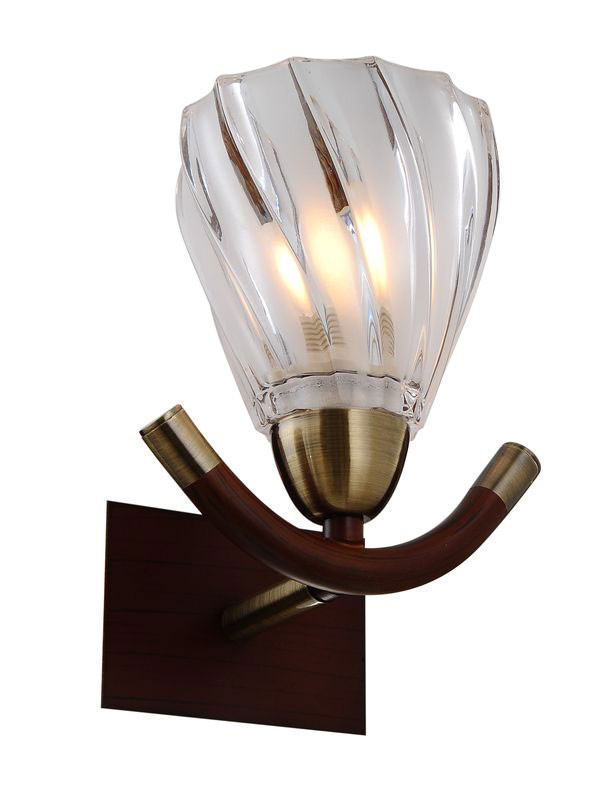 цена на N-Light 407-01-51ABW antique brass + walnut