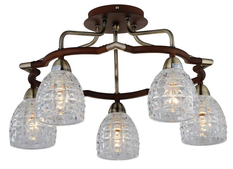 где купить N-Light 412-05-53ABW antique brass + walnut по лучшей цене
