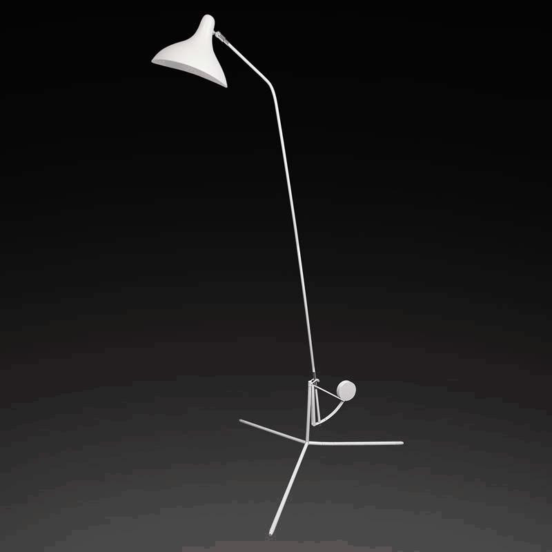 Lightstar 764716*** (ML14003041-1В) Торшер MANTI 1х40W E14 White, шт lightstar 764604 mв14003041 1а бра manti 1х40w e14 chrome шт