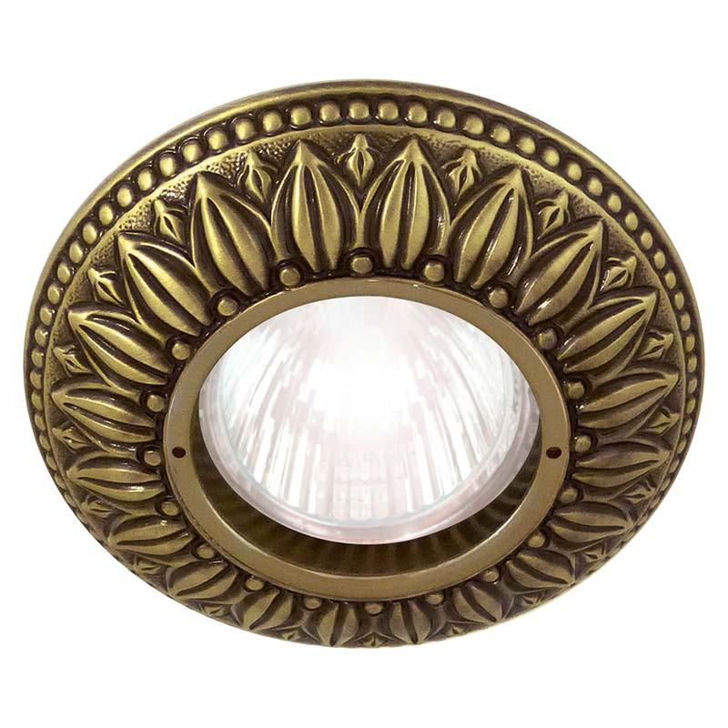Fede FD1011RPB Круглый точечный светильник из латуни, патина светильник точечный круглый коллекция pisa lights fd1010rcb светлый хром латунь fede феде