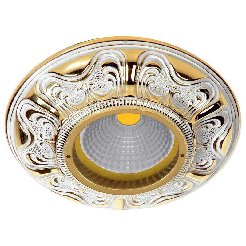 Fede FD1006ROP Круглый точечный светильник из латуни, золото с белой патиной sbart upf50 rashguard 2 bodyboard 1006