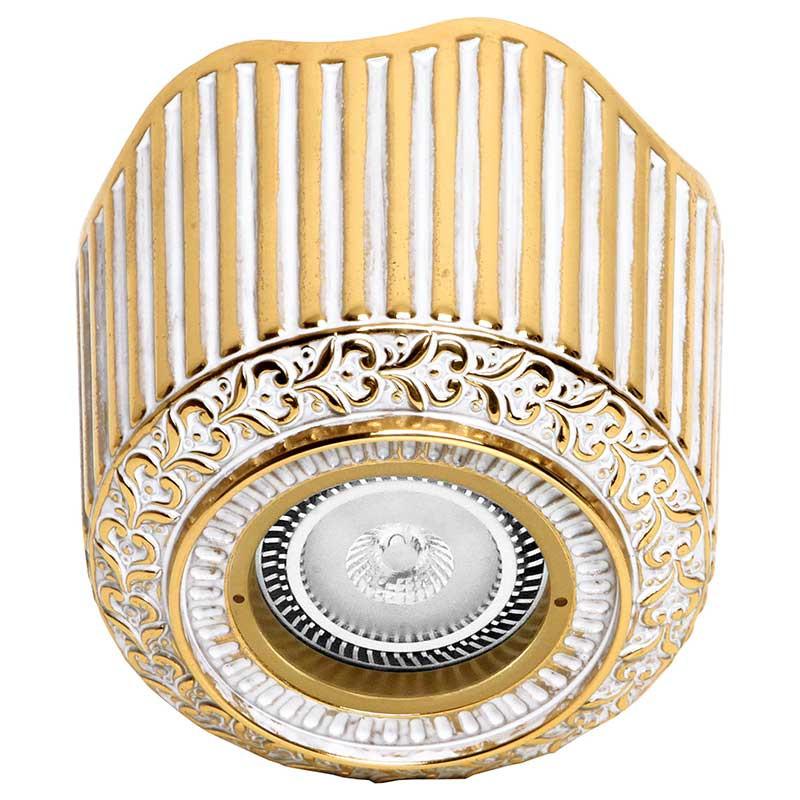 Фото Fede FD1017SOP Накладной точечный светильник из латуни San Sebastian Surface, золото с белой патиной. Купить с доставкой