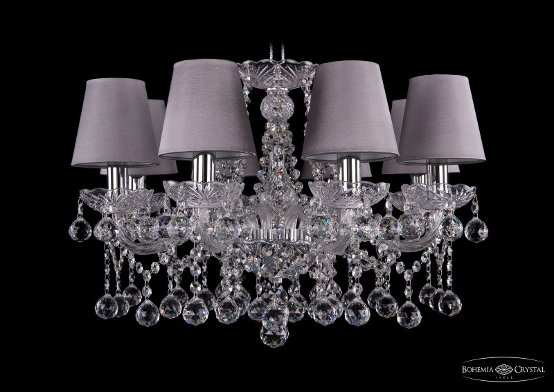 Bohemia Ivele Crystal 1413/8/200/Ni/Balls/SH24 подвесная люстра bohemia ivele crystal 1413 8 200 ni balls sh4