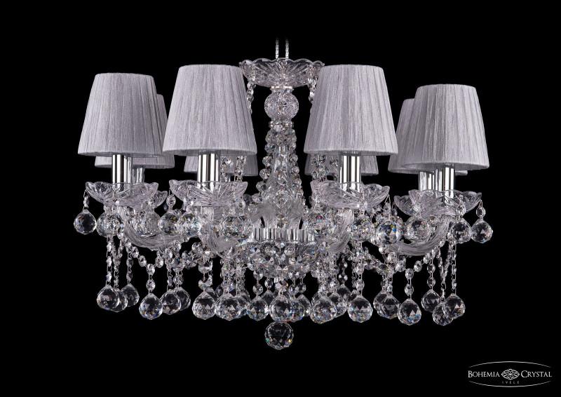 Bohemia Ivele Crystal 1413/8/200/Ni/Balls/SH6 подвесная люстра bohemia ivele crystal 1413 8 200 ni balls sh4