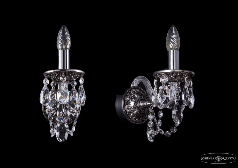 Bohemia Ivele Crystal 1610/1/NB бра bohemia ivele 1610 nickel black арт 1610 2 nb
