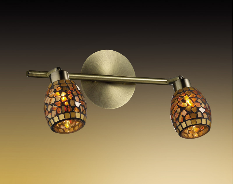Odeon Light 2167/2W ODL11 773 мозаика/янтарный Подсветка  G9 2*40W 220V GLOSSE