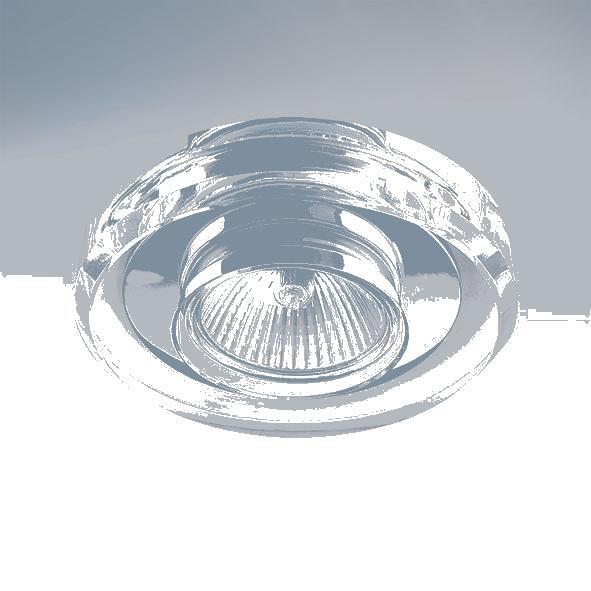 Lightstar 002040 (052910) Светильник SOLO CYL MR16 ХРОМ/ПРОЗРАЧНЫЙ, шт