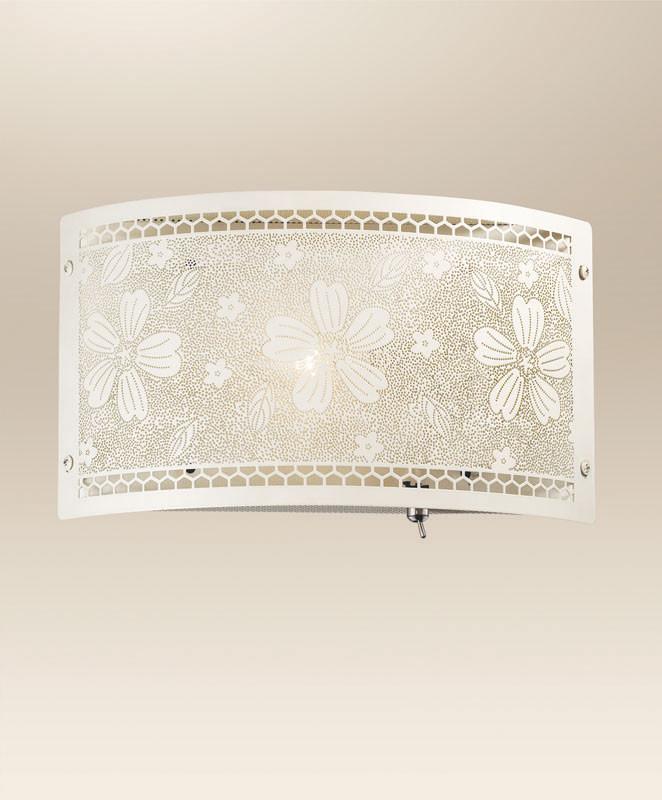 Odeon Light 2422/1W ODL13 347 белый/абажур металлик Бра  E14 40W 220V APIKA odeon light подвесной светильник apika 2422 1