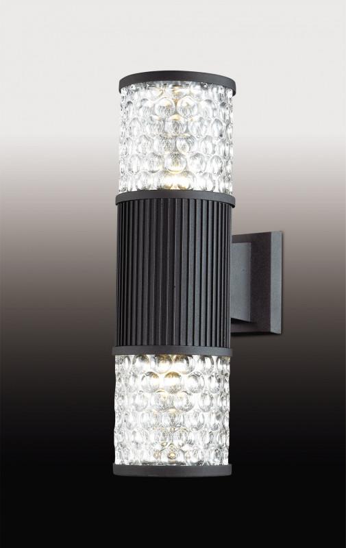 Odeon Light 2689/2W ODL15 923 черный У��ичный настен светильник IP44 E27 2*60W 220V PILAR светильник настенный odeon light 2743 2w odl15 787 e14 2 40w 220v lemo хром стекло