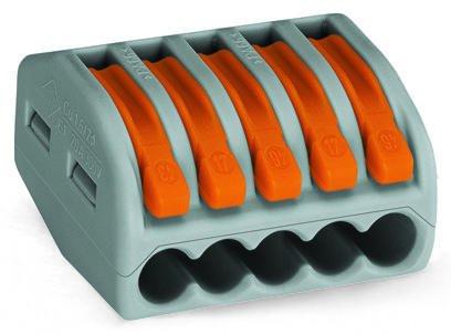 WAGO Клемма 5x0.08-2.5мм (222-415) bnc м клемма каркам