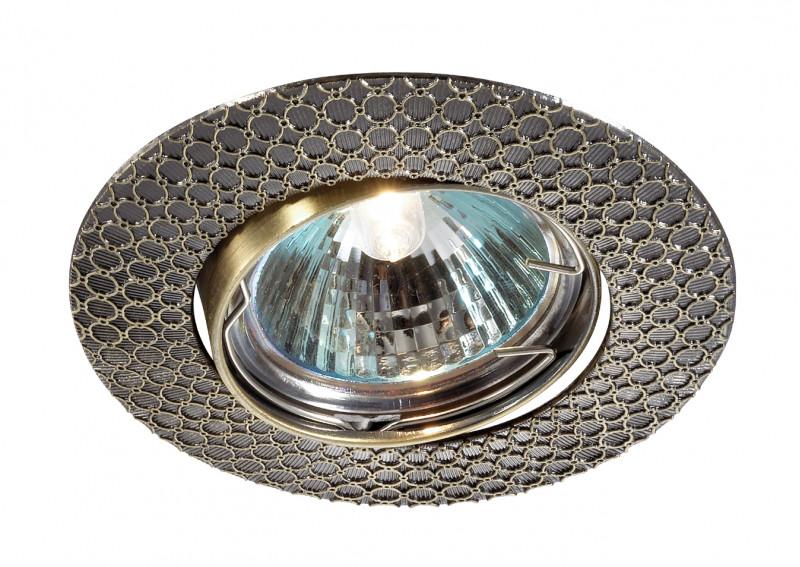 Novotech 369623 NT12 280 бронза Встраиваемый ПВ светильник IP20 GU5.3 50W 12V DINO