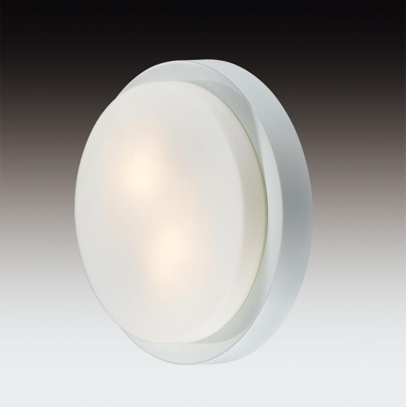 Odeon Light 2745/2C ODL15 867 белый/стекло Н/п светильник IP44 E14 2*40W 220V HOLGER светильник потолочный odeon light holger 3 х e14 40w 2745 3c