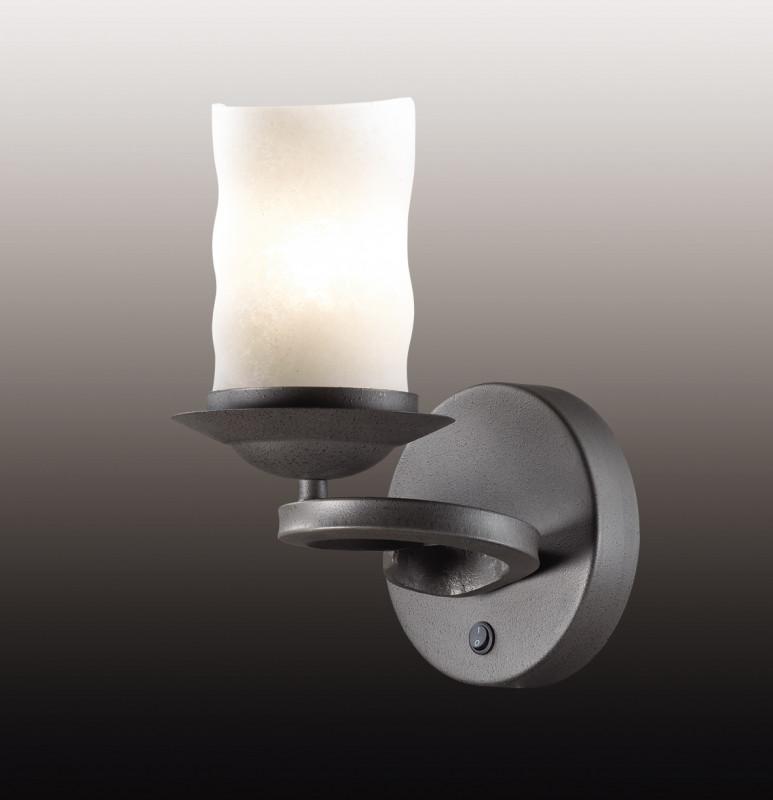 Odeon Light 2766/1W ODL15 335 черный/стекло Бра E27 60W 220V BRIN odeon light бра odeon light brin 2766 1w