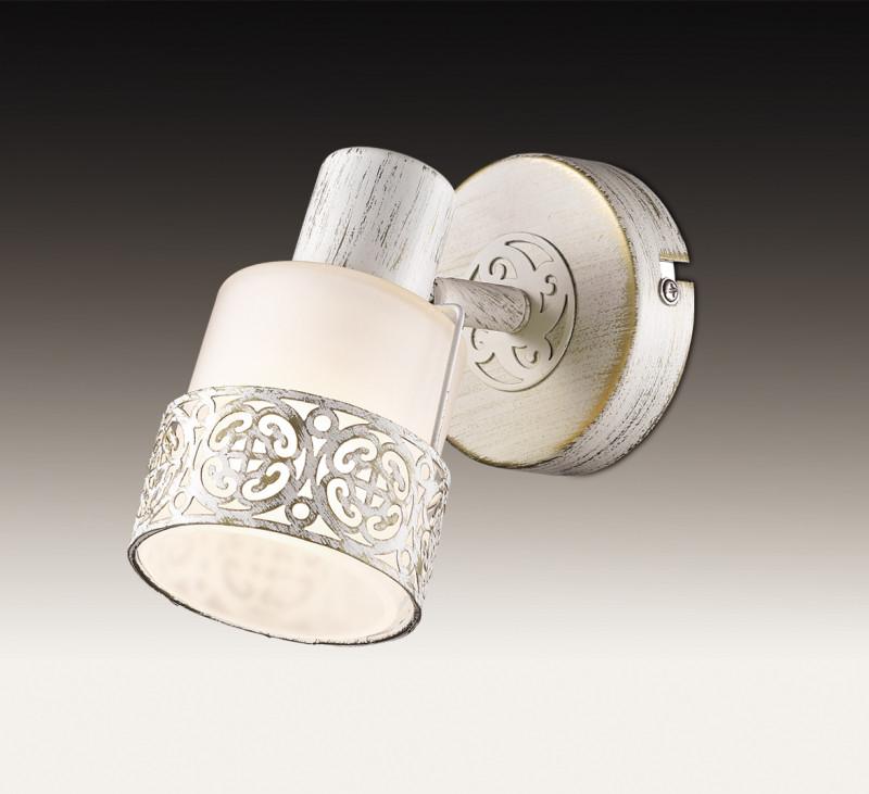 Odeon Light 2786/1W ODL15 761 белый с позолотой/стекло Подсветка с выкл E14 40W 220V MATISO odeon light спот odeon light matiso 2786 3w