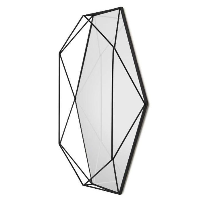 Umbra Зеркало настенное prisma чёрный umbra декор для стен prisma чёрный