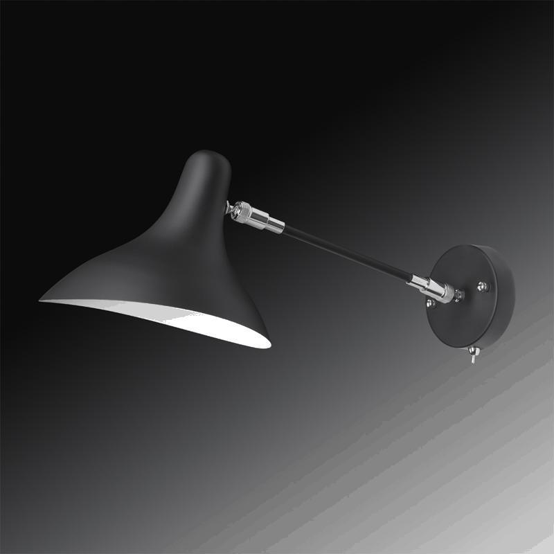 Lightstar 764607 (MВ14003041-1А) Бра MANTI 1х40W E14 Black, шт lightstar 764604 mв14003041 1а бра manti 1х40w e14 chrome шт