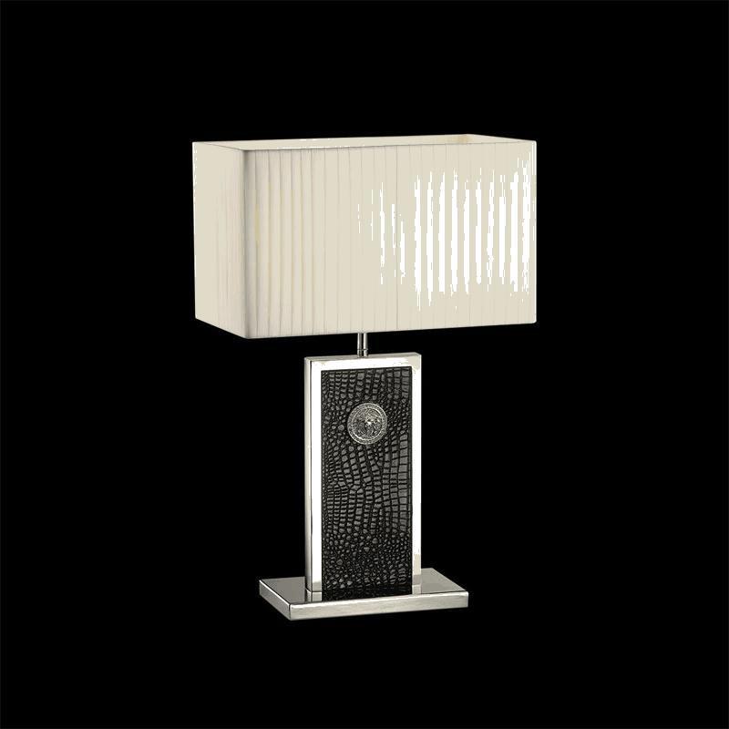 Lightstar 870937 (PD3088-BL) Настольная лампа FARAONE 1х60W E27 КОЖА/ЧЕРНЫЙ/ХРОМ, шт паяльник bao workers in taiwan pd 372 25mm
