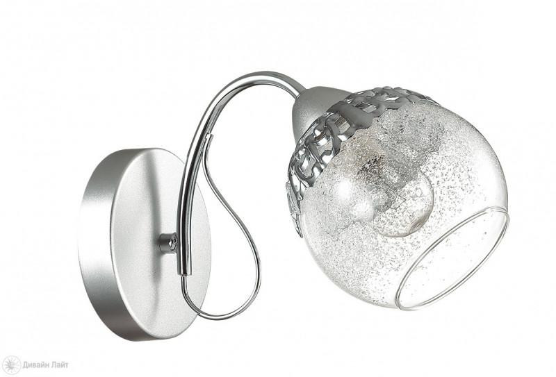 LUMION 3020/1W LN16 000 хром/стекло/метал. декор Бра E14 1*60W 220V NEVETTE lumion 3020 5c ln16 000 хром стекло метал декор люстра потолочная e14 5 60w 220v nevette