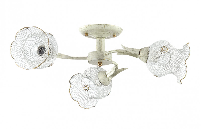 LUMION 3108/3C LN16 000 белый/зол.патина/металл Люстра потолочная E27 3*60W 220V ROZETTA
