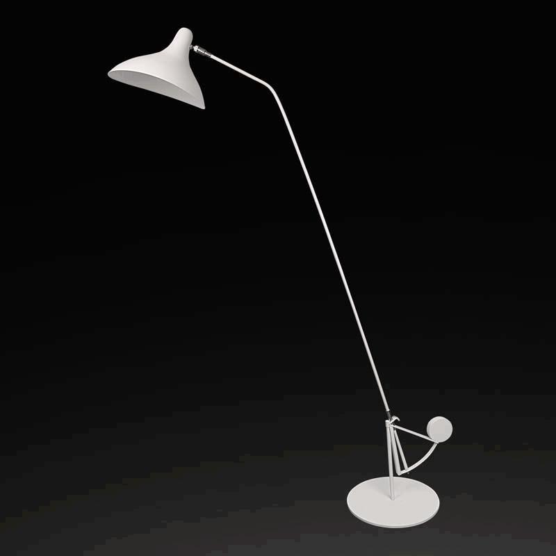 Lightstar 764706 (ML14003041-1А) Торшер MANTI 1х40W E14 White, шт lightstar 764604 mв14003041 1а бра manti 1х40w e14 chrome шт