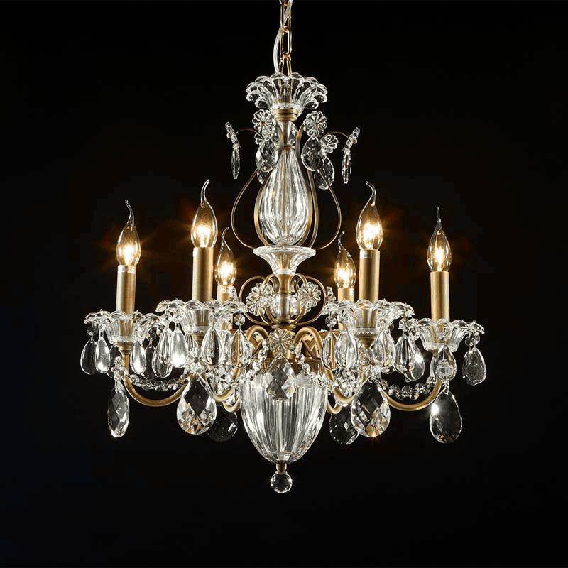 где купить Lightstar 790061 (MD300027-6)  Люстра  SCHON 6x60W E14 Bronze , шт по лучшей цене