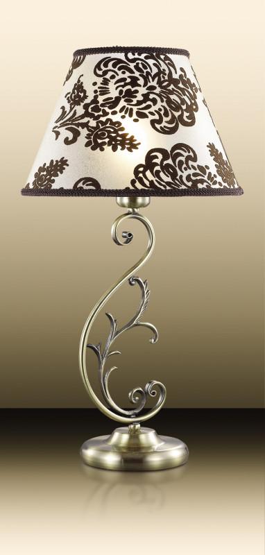 Odeon Light 2687/1T ODL15 265 бронзов/абажур  ткань коричн Н/лампа E14 60W 220V PARI