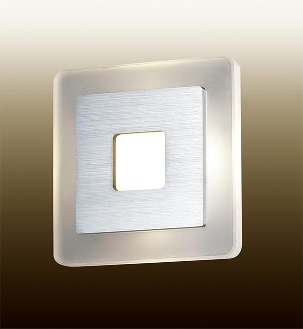 Odeon Light 2724/4WL ODL15 807 алюмин/акрил Настенный светильник LED 4W 220V AMAFO odeon light настенный светильник odeon light amafo 2724 4wl