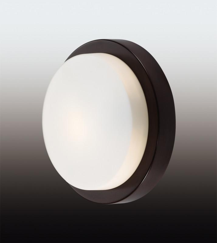 Odeon Light 2744/1C ODL15 866 венге/стекло Н/п светильник IP44 E14 40W 220V HOLGER светильник настенный odeon light 2743 2w odl15 787 e14 2 40w 220v lemo хром стекло