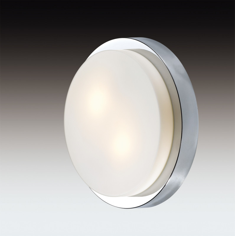 Odeon Light 2746/2C ODL15 867 хром/стекло Н/п светильник IP44 E14 2*40W 220V HOLGER odeon light 2745 2c odl15 867 белый стекло н п светильник ip44 e14 2 40w 220v holger