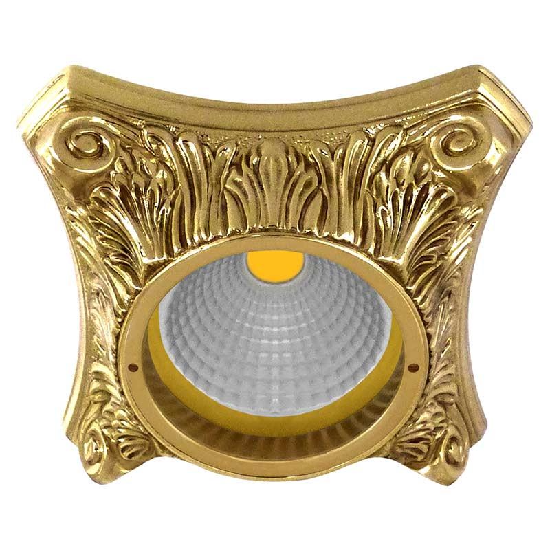 Fede FD1010ROB Круглый точечный светильник из латуни, блестящее золото светильник точечный круглый коллекция pisa lights fd1010rcb светлый хром латунь fede феде